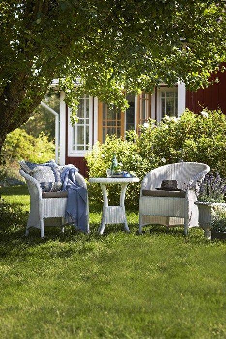 Brooklyn trädgårdsgrupp i vit konstrotting från Mio.
