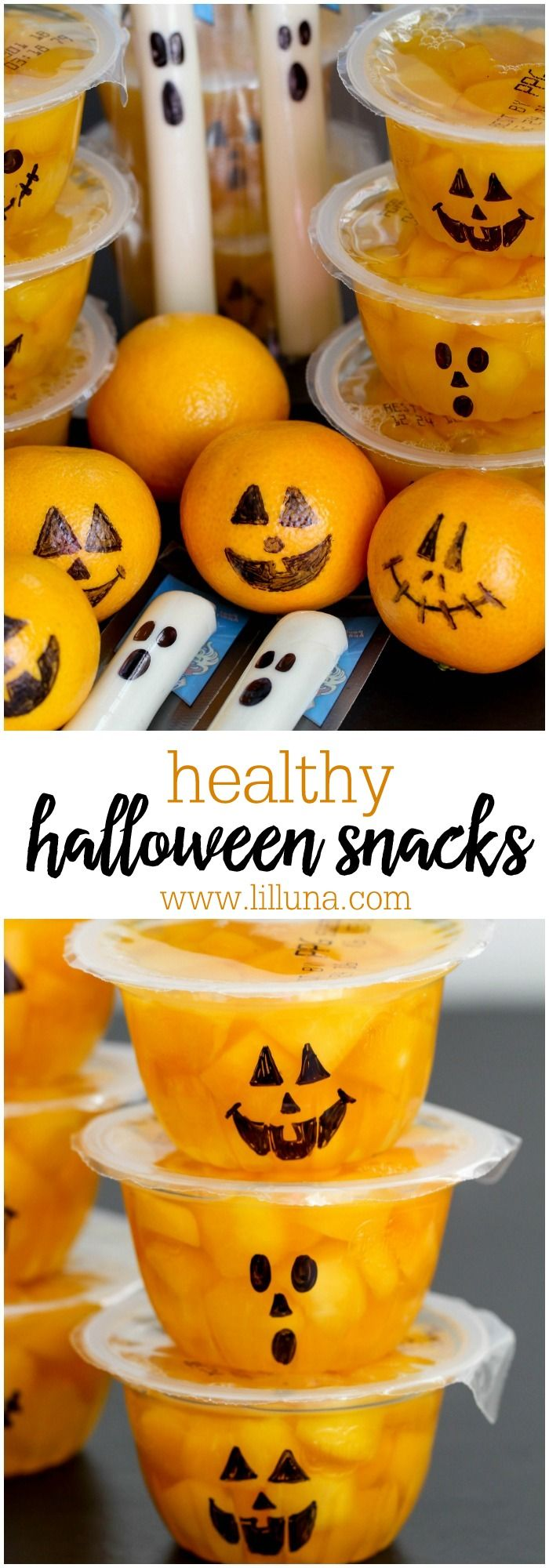 Cute and Healthy Halloween Snacks - perfect for all your fall and October parties (and so easy too!)