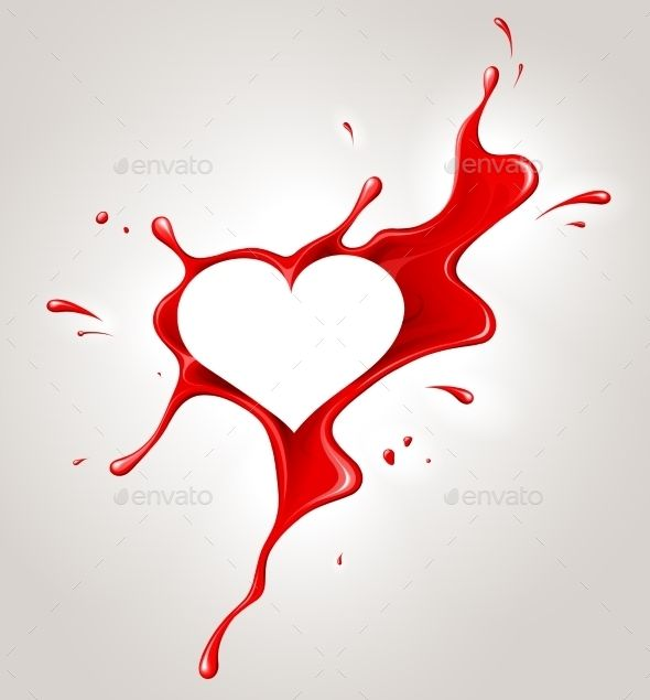 Red Spray Paint and Heart