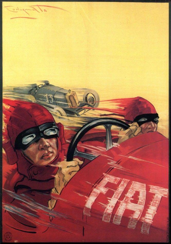 Plinio Codognato, poster pubblicitari Fiat - Fiat advertisement poster