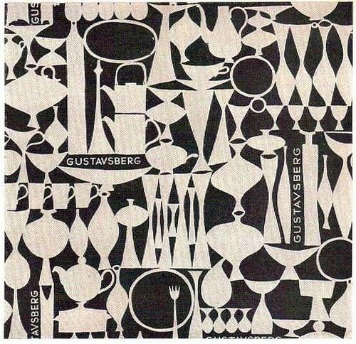 Stig Lindberg pattern for Gustavsberg (wrapping paper?)