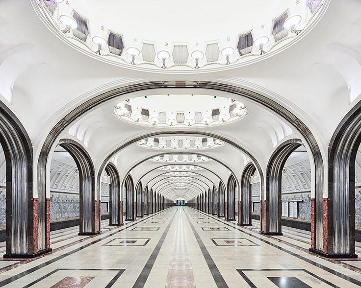 Mayakovskaya Metro Station, Moscow   moscow-metro-station-architecture-russia-bright-future-david-burdeny-4