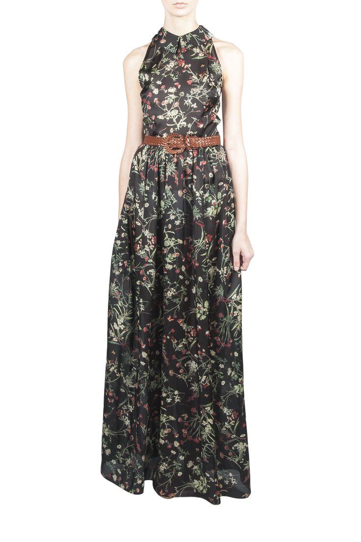 Длинное платье в цветочный принт от известного украинского бренда POUSTOVIT. без рукавов, приталенный силуэт. круглый отложной воротник. Рекомендуем брать ваш стандартный размер. Платье можно приобрести на сайте suitster.com