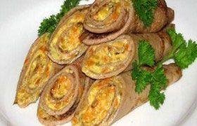 Блины из печени с начинкой – рецепт печеночных блинчиков с начинками