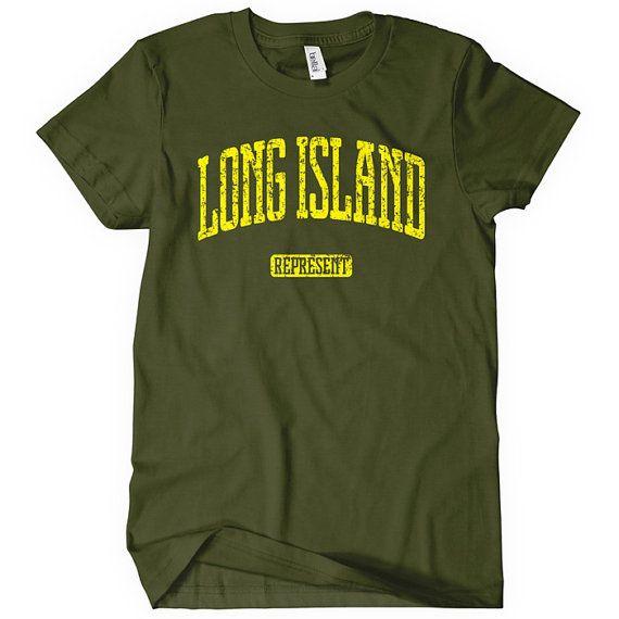 Long Island Represent Women's Tshirt  Distressed  by smashtransit