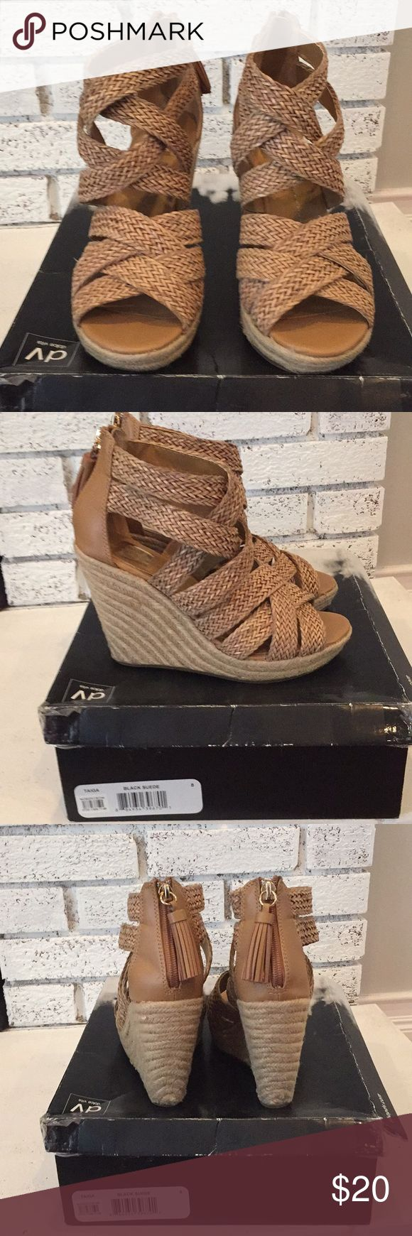 Wedge sandals Dolce vita tan wedge sandals.. gently worn. Dolce Vita Shoes Wedges