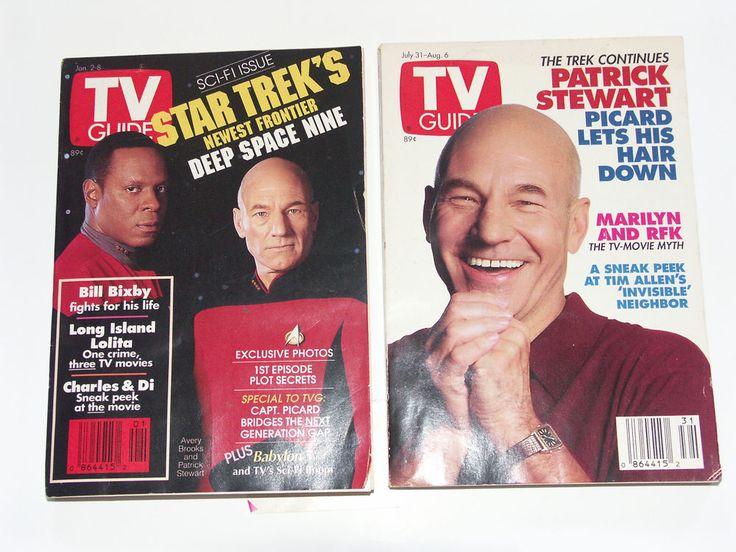 TV GUIDE 1993 Patrick Stewart & Avery Brooks Issues January 2 Juy 31 Weekly Trek