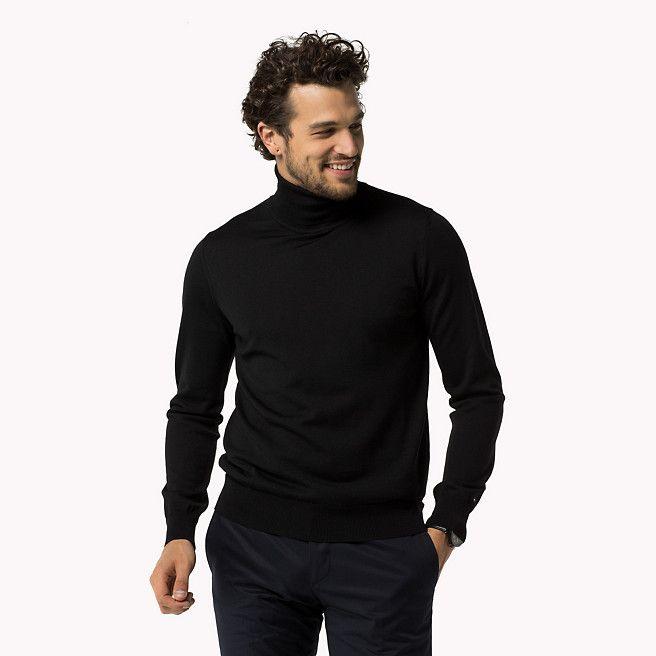 Tommy Hilfiger Chester Rollneck Sweater - jet black-pt (Black) - Tommy Hilfiger Jumpers - main image