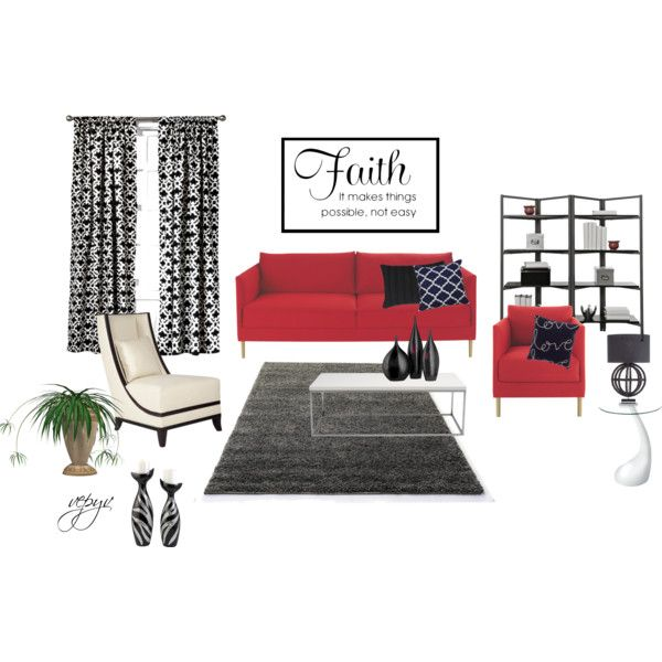 """Contrast living room"" by viktoria-vepy on Polyvore"