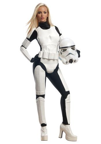 Finally, the Empire has begun making outfits for female soldiers. The licensed Star Wars female Stormtrooper costume is like the male counterpart, but designed for women.