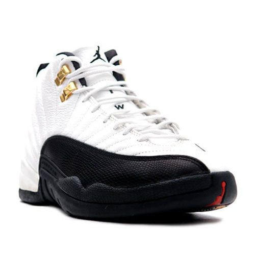 Air Jordan 12 XII Original OG Taxi White Black with Good design And Nice Style