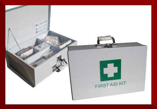 Factory First Aid Kit   Dimensions: 46 x 34 x 14cm  Enquire for contents