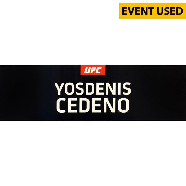 Yosdenis Cedeno Ultimate Fighting Championship Fanatics Authentic UFC 189 Event-Used Locker Room Nameplate - $49.99