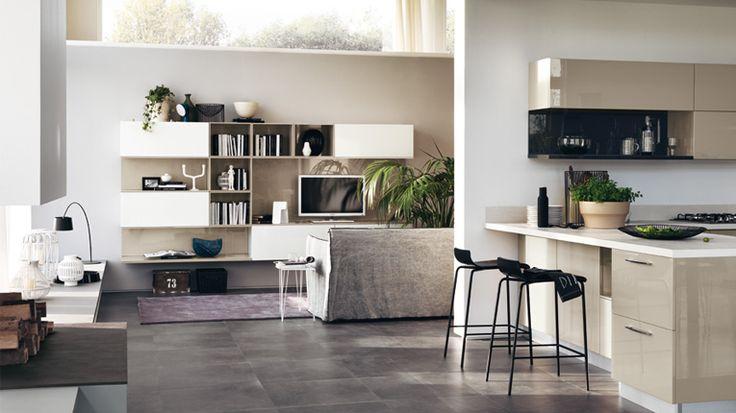 L\'arredo ideale per una cucina-soggiorno open space | cucine ...