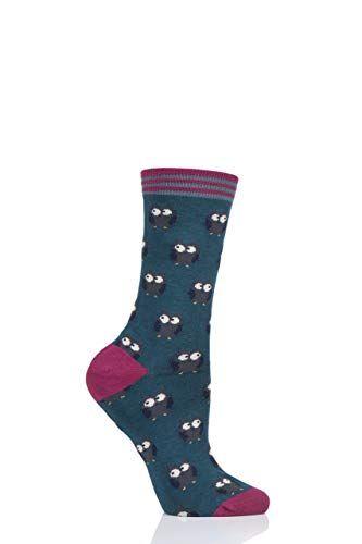 Thought Damen Owlie Bambus Und Bio Baumwolle Socken Packung Mit 1