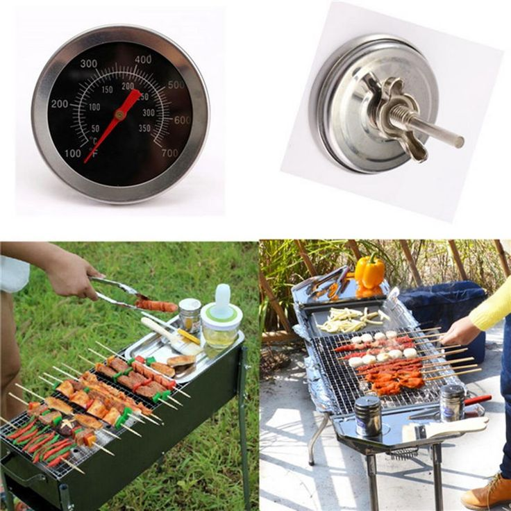 Barbecue BBQ Grill Thermometer Temp Gauge Outdoor Camping Cook Food Tool