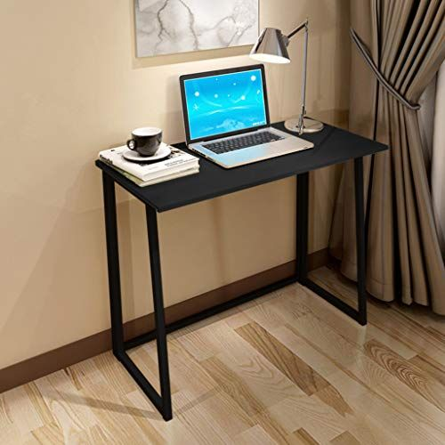Ohradword Folding Laptop Table Computer Desk Modern Simple Study Desk Industrial Style No Assembly Sturdy An Folding Computer Desk Pc Desk Modern Computer Desk