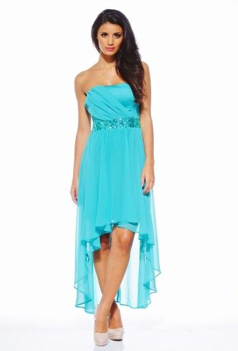 Mullet Dress--ok length, gradual swoop, rounded & not pointed/v-shaped
