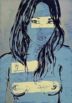 DAVID BROMLEY, Mallory in Blue, Ltd Edition Silkscreen  Artist: Bromley, David  Artwork title: Mallory in Blue