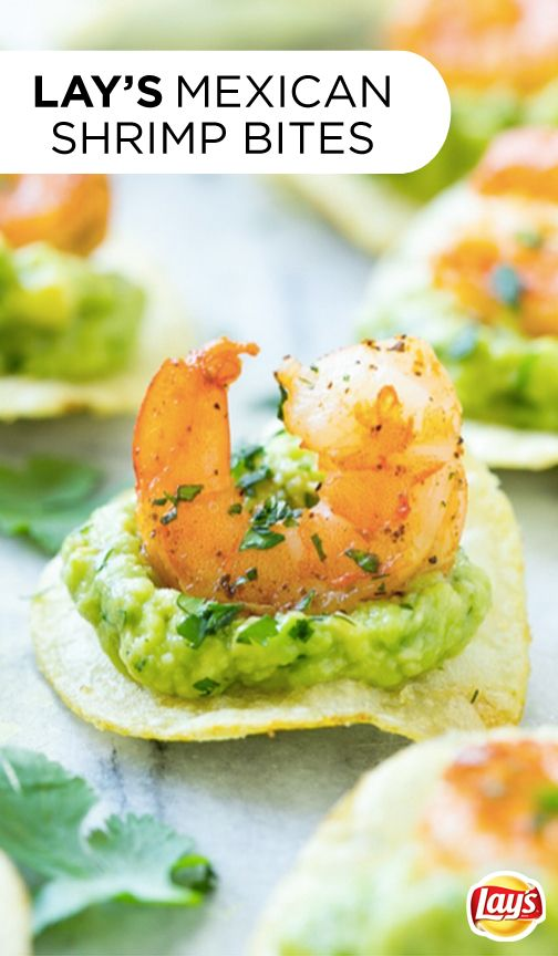 Kick off the summer with a deliciously different appetizer that's perfect for all your parties. This recipe is so easy to make–simply top crispy LAY'S potato chips with the delicious combination of guacamole and shrimp. They're sure to become your new favorite recipe hack for entertaining!