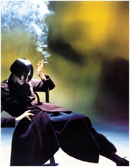 Nick Knight - Susie Smoking, 1988 (in Yohji Yamamoto)