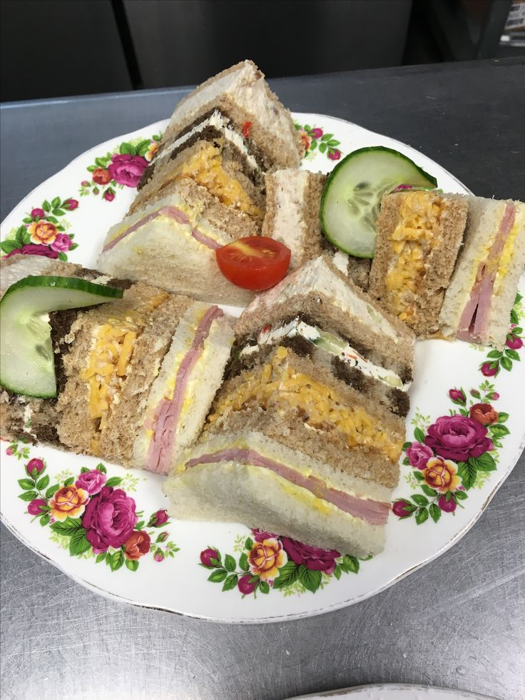 2 orders of tea sandwiches - they always hit the spot!