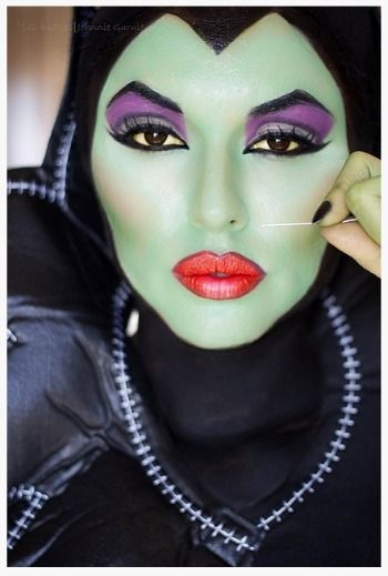 Halloween Makeup from DIY Costume Board  maleficent from sleeping beauty
