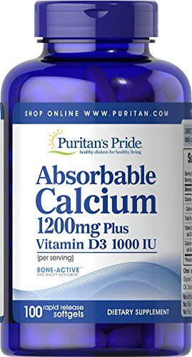 Absorbable Calcium 1200 mg with Vitamin D 1000 IU, 100 Softgels