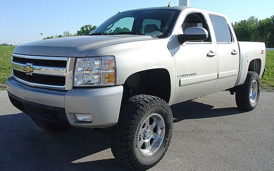 silver silverado lifted images - photo #8