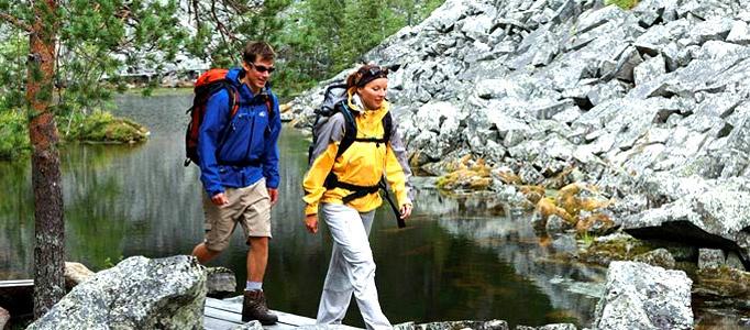 Hiking near Ounasvaara or more far away photo © Rovaniemi Tourism & Marketing Ltd