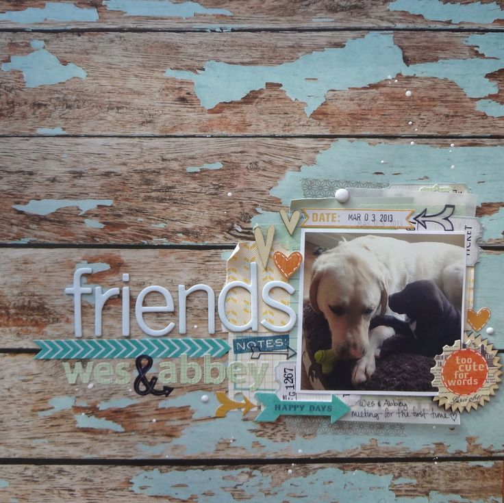 Kaisercraft - Base Coat Collection Scrapbook layout friends - Scrapbook.com
