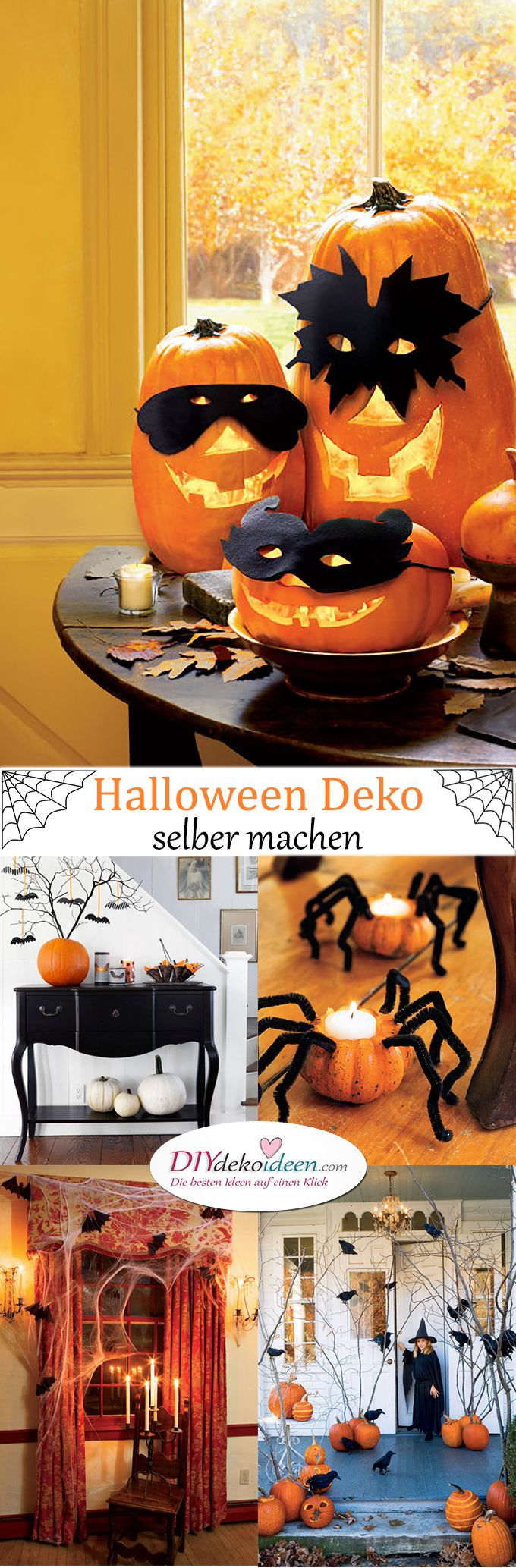 die besten 25 halloween deko selber machen ideen auf pinterest halloween party deko selber. Black Bedroom Furniture Sets. Home Design Ideas