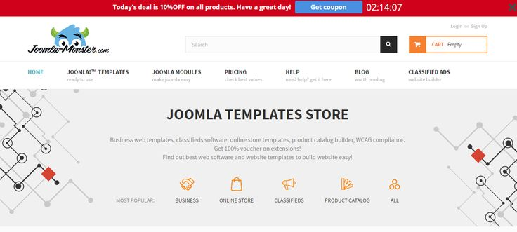 2 hours left to buy with 10% discount on single license or all Joomla templates bundle! https://djex.co/1KGEaKD #Joomla #template #discount