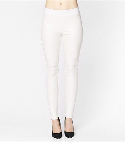 High Waist Front Faux Leather Legging