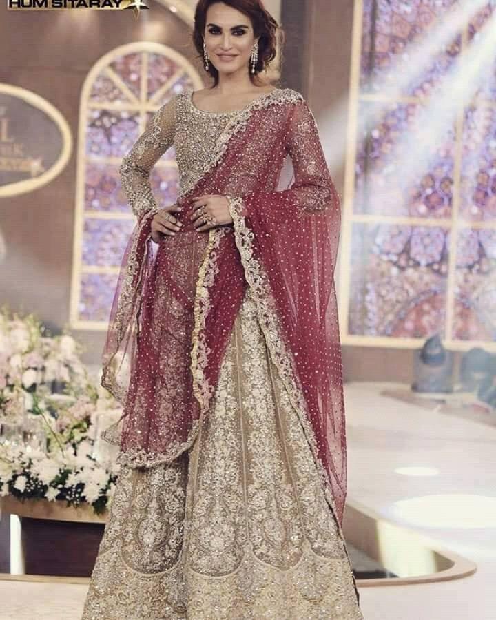 Lehenga Choli- Gold and Maroon, Zainab Chottani Replica, 3 Pc Stitched- Indian, Pakistani, Bollywood Wedding Formal by KaamdaniCouture on Etsy
