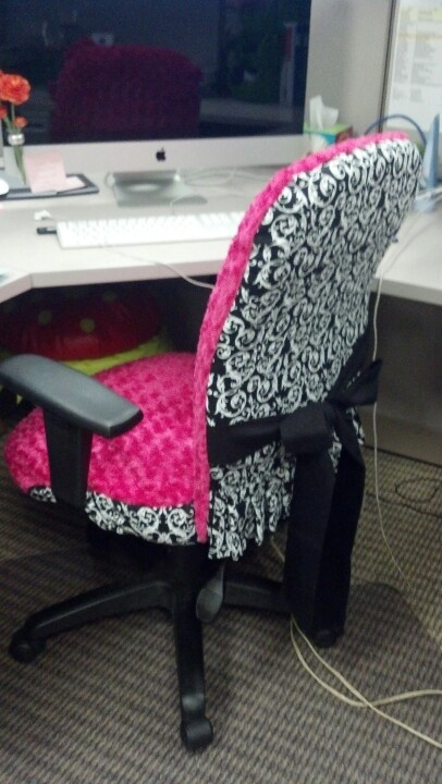 Office chair cover. Hidden heat pad.