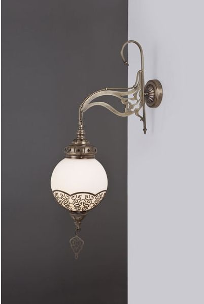 Lustre Oriental dorée rond trés fin - Promelec spécialiste de l'éclairage et du Luminaire à Casablanca Maroc
