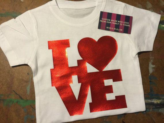 LOVE Valentine's Day Shirt Valentine's Day by BigSisLilSisShop