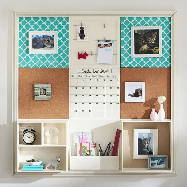 PB Teen 3X3 Pool Clover Style Tile 2.0 Set at Pottery Barn Teen -... ($400) ❤ liked on Polyvore featuring home, home decor, fabric cork board, cable caddy, white cork board, white home decor and pbteen