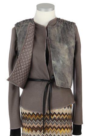 Shop L U C Y Short Vest Reversibel by IOSOY now on nelou.com. Plus 8600 more designs.