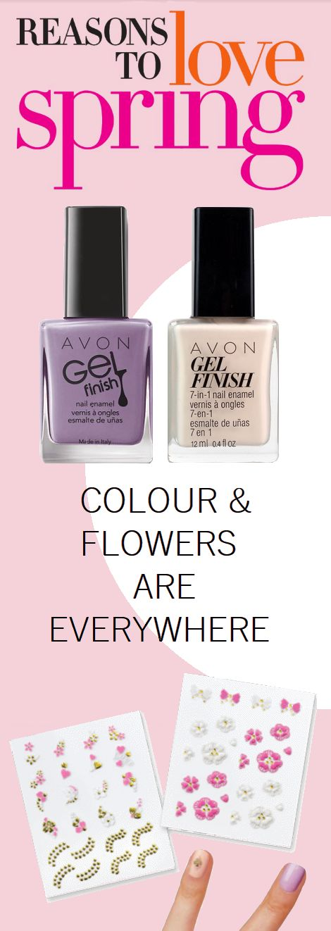 NAIL ART Create your own design with these adorable stickers. Includes 48 nail stickers.     Featured Gel Finish 7-in-1 Nail Enamel in Lavender Sky and Nudeitude.