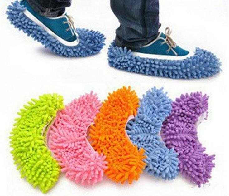 O envio gratuito de sapatos casa de banho pavimento Mop limpeza Cleaner Slipper preguiçosos Shoes capa(China (Mainland))