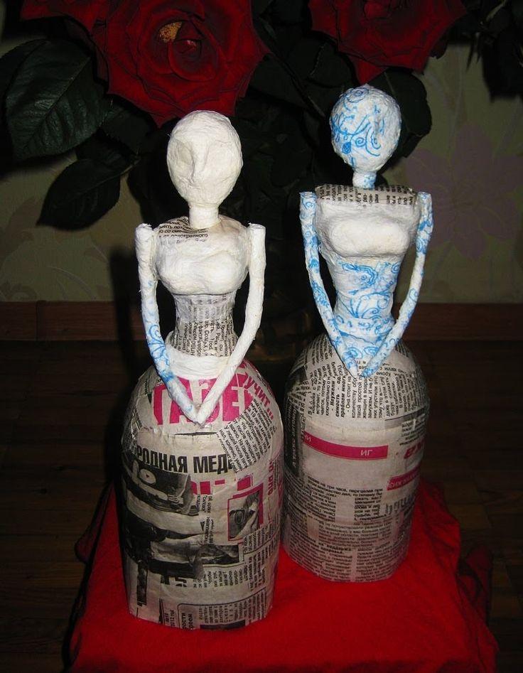 DIY Заготовка для куклы. Папье-маше  How to make doll  Papier-mache
