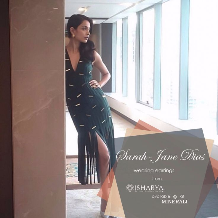 Sarah Jane Dias mesmerises in the gorgeous set of croc huggie earrings by Isharya, available at Minerali. #minerali_store #isharya #earrings #sarahjanedias #fashion #style #jewellery #accessories #celeb #linkingroad #bandra #Minerali