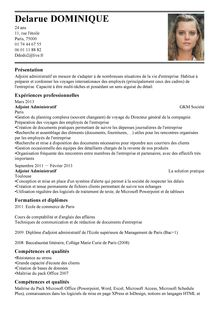 Modèle de CV Adjoint Administratif