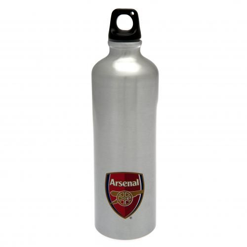 ARSENAL Extra Large Aluminium Drinks Bottle. 750 ml capacity. Approx 19 cm x 7 cm. Official Licensed Arsenal metal drinks bottle.. FREE DELIVERY ON ALL OF OUR GIFTS