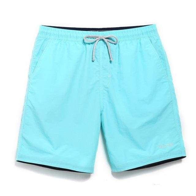 Elogoog Mens Short Swim Trunks Quick Dry Boy Board Shorts Swim Suit Watershort Solid