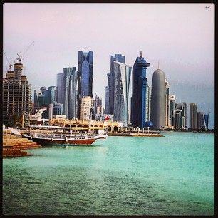 The capital of Quatar Doha skyline