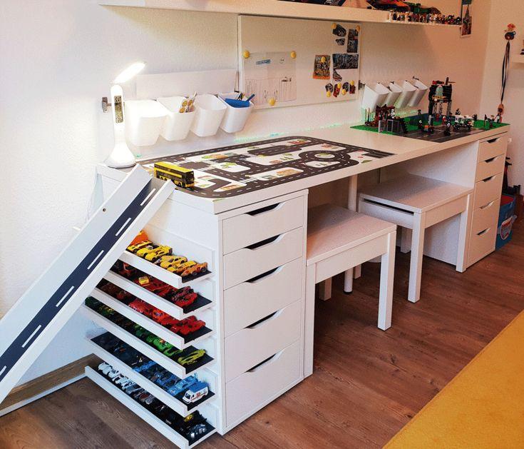 Construisez votre propre table multifonction avec IKEA www.limmaland.com  – Kinderzimmer