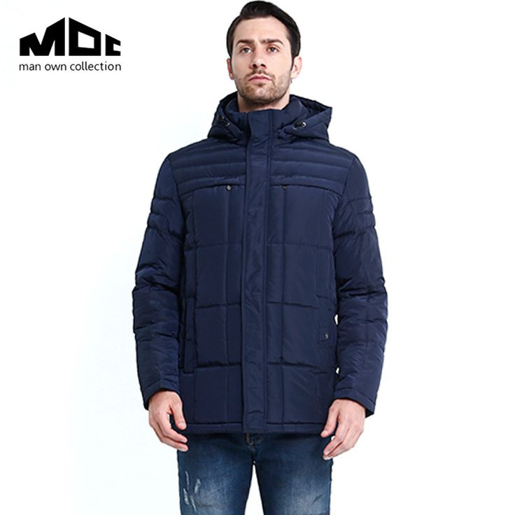 2016 New MOC Brand Mens Winter Warm Downs Jacket Thick Men Down Parka Coat Black Outerdoor Fashion Hooded Outwear Bread Coat